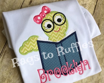 Back to School Bookworm Shirt- Personalized Bookworm Shirt- Back to School Shirt
