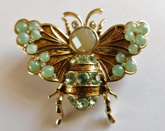 Napier Bug Brooch Moth Pin Costume Designer Insect Jewelry