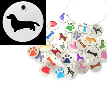 Dachshund Sterling Silver Necklace Pendant Charm - Lots of Colors