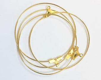 20 pcs of Gold plated brass beading hoop 40mm
