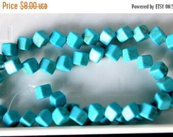 ON SALE 50% OFF Magnesite Square Dice,9x9mm gemstone Beads, 15 inch Strand