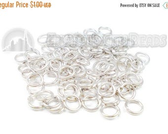 40% Retirement Closeout - Jump Rings, 4mm, Silver Plate, 21 Gauge, 100 pieces, 5RI64-0001