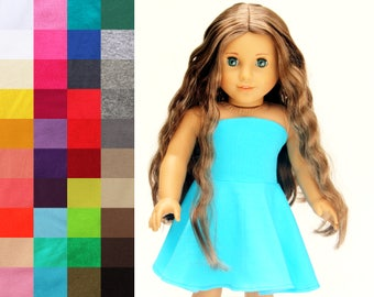 Fits like American Girl Doll Clothes - Simply Summer Bandeau Dress, You Choose Color