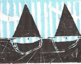 Two Boats - Archival Art Print