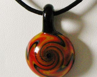 Multi Color Wig Wag Glass Pendant