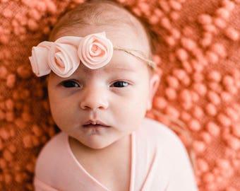 Newborn Tie Back chiffon flowers - {simple flowers, flower tie back, newborn photo prop}