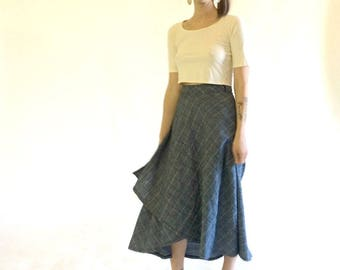 Tulip Wrap Skirt || 100% Softest Hemp Linen