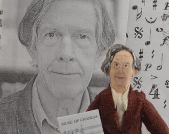 John Cage Modern Music Composer Miniature Doll Unique Art Music Theory
