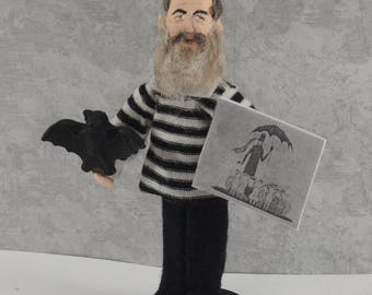 Edward Gorey Doll Macabre Art Miniature Sized Author and Artist