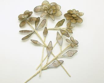 Flower Picks Metal Mesh Floral Stems