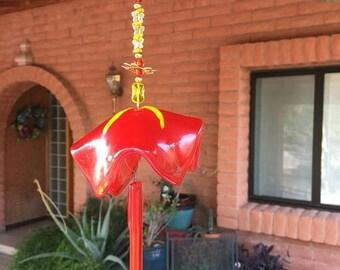 FLASH SALE Bell Flower Windchime Orange