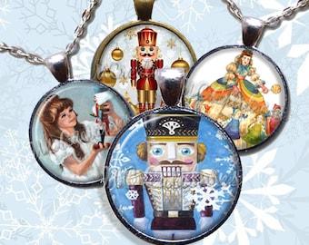 Nutcracker Ballet Glass Pendant Necklace Jewelry Bundle Gift Party Favors Grab Bag Bulk Discount