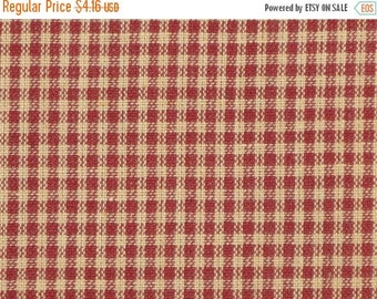 SALE SALE SALE Small Wine Check Fabric | Rag Quilt Fabric | Sewing Fabric | Crafting Fabric | Doll Making Fabric | Cotton Woven Fabric | 26