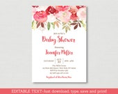 Fall Rose Floral Baby Sho...