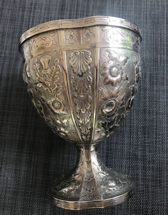 Monumental Philadelphia 1855-1860 Bailey & Co Coin Silver Chalice Form Vase (515 grams)