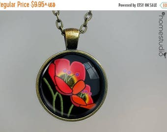ON SALE - Annuals : Glass Dome Necklace, Pendant or Keychain Key Ring. Gift Present metal round art photo jewelry by HomeStudio