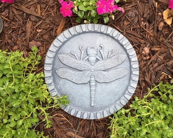 Concrete Dragonfly Stepping Stone (Bluestone) Garden Sculpture