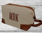 Monogrammed Dopp Kit, Personalized Toiletry Bag, Toiletry Kit, Mens Travel Accessory