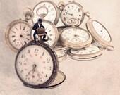 Steampunk Clock, Watch, wall decor, pocket watch, antique pocket watch, pocket watch print, steampunk watch, steampunk, steampunk decor