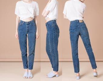 LEVIS 512 HIGH WAIST jeans SkinnY 90S denim jean Vintage blue Size 6 7 / 28 29 inch waist / better Stay together