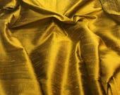 Medallion Gold Silk DUPIONI Fabric - fat 1/4