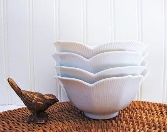 otagiri lotus porcelain rice bowls OMC japan asian bowl