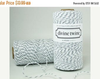 STOREWIDE SALE 240 Yards Eco Friendly Oyster grey and White Divine Twine