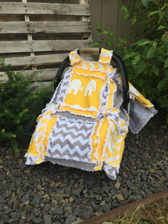 Carseat Canopy Pattern - Easy Peasy Rag Quilt Pattern- Car Seat Cover Pattern- Baby Quilt Pattern- Crib Bedding Pattern- Baby Sewing Pattern & Carseat Canopy Pattern Easy Peasy Rag Quilt Pattern Car