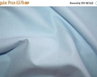 SUMMER SALE Sky blue oxford cotton fabric 0.50 metre - made in Europe