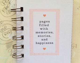 Filled with Happiness - Mini Jotter Notebook