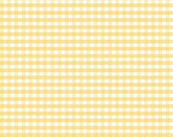 Riley Blake Designs, Medium Gingham in Yellow (C450 50)
