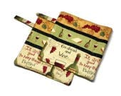 Handmade Quilted  Pot Holders Wine Lovers set of 2 Good Friends Wine Bottles