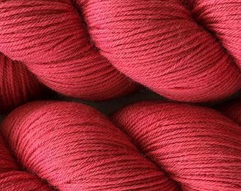 Garnet Red Cascade Heritage Yarn 437 yards Super Fine Wool Nylon Sock Yarn Color 5714