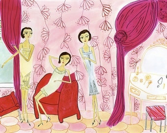 Dora, Donna, and Diana Davenport of Dover, Delaware 1957. Limited edition print by Vivienne Strauss.