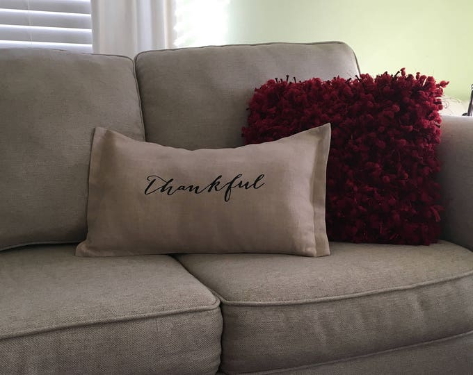 Rustic Farmhouse Handmade Linen Decorative Pillow