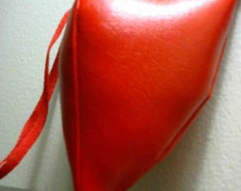 Renaissance Padded Red PVC Codpiece with Ties
