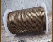 Metallic Bronze Leather Cord, Round Leather Cord, Bronze Leather, 16ft Leather, 1mm thick Leather Cord