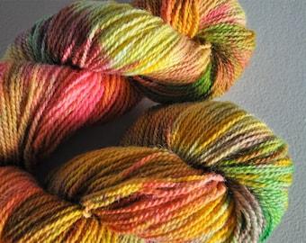 Harvest.  Handpainted Wool Yarn 2 Ply DK weight SET OF 2