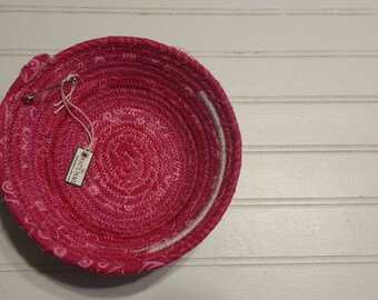 "6"" Coiled Fabric Bowl - Pinks"