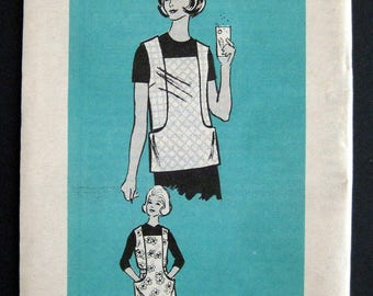 1960s pattern 9432 Medium apron smock  Mail order sewing pattern