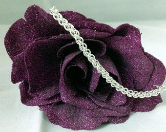 Small Everyday Chainmaille Bracelet-Sterling Silver