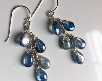 Kyanite Cascade Shimmer Earrings