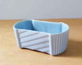 Vintage Blue UPCO Planter • American Pottery Planter • 200-6 UPCO USA