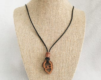 Leather, Copper necklace