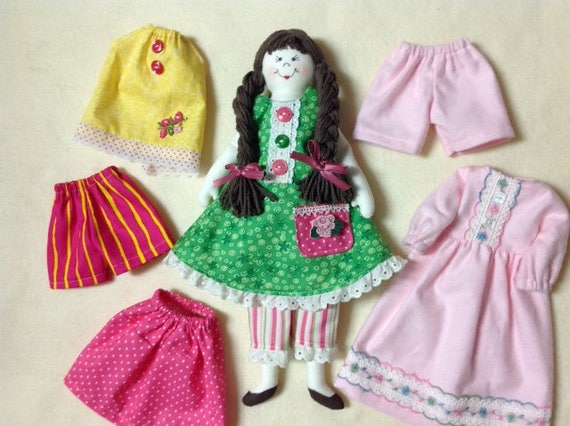 "Cloth Doll E-Pattern 14"" Dress Up Doll"