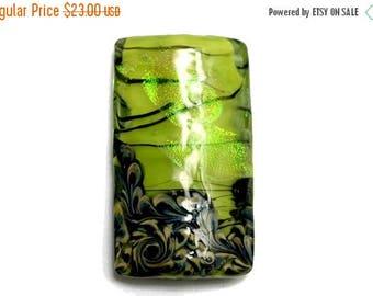 ON SALE 30% off NEW! 11837303 Spring Green Shimmer Kalera Focal Bead - Handmade Glass Lampwork Bead