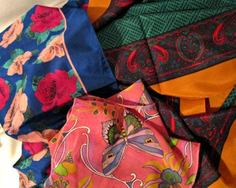 Scarf Assortment, 3 Women's scarves, Women's accessories, 3 Chiffon Scarves lot