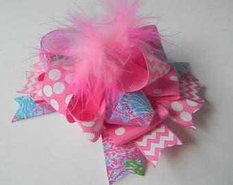 Lilly Hair Bows-Ott Hair Bow-Lilly hair clip-Pink hair bow