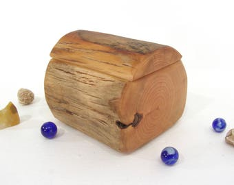 HOLDING for Spiralsouldesigns, Choke Cherry Driftwood Box, guitar pick box, wooden jewelry box, pet urn, groom gift, 5th anniversary
