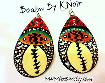 Spiritual Drop Cowrie Earrings